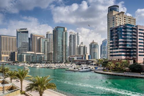 Fototapeta Dubajska marina w Zjednoczonych Emiratach Arabskich