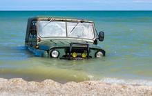 Car Sinking In The Sea