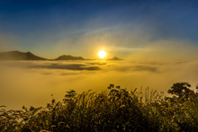 Sunrise Mountain With Mist, Ph...