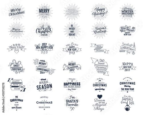 Big Christmas bundle - typography wishes, funny badges, holiday ...