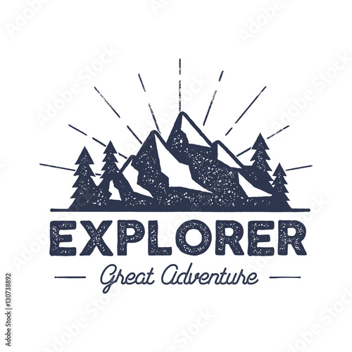 Fotografie, Obraz Outdoor explorer badge