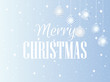 Merry Christmas. Background with Christmas balls and snowflakes. Vector illustration.