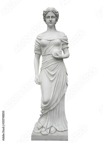 Stampa su Tela Marble statue isolated