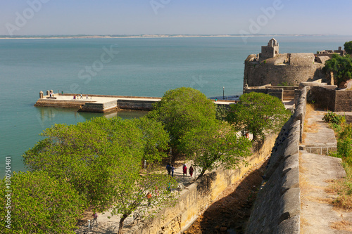 Fortification View of Diu fort. Diu, India