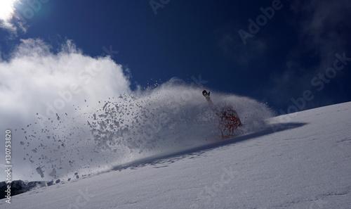 Poster Wintersporten Snowboarder in Mellau