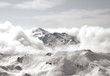 canvas print picture - Schnee Wolken Landschaft