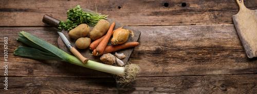 Fotografie, Obraz  assortiment de légumes du jardin