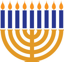 Jewish Holiday Menorah For Hanukkah