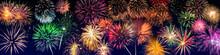 Feuerwerk An Silvester Als Panorama Hintergrund