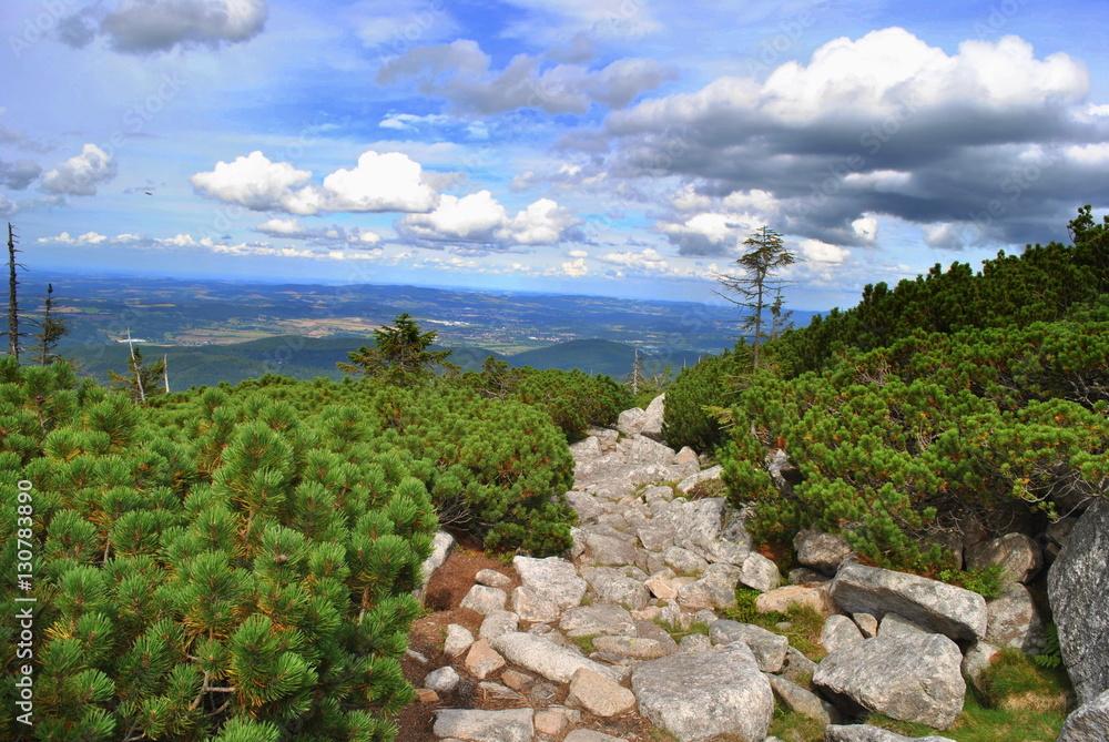 Fototapeta Górski pejzaż Karkonoszy