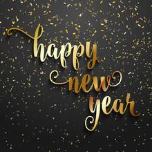 Happy New Year Confetti Backgr...
