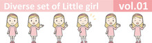 Diverse Set Of Little Girl , E...