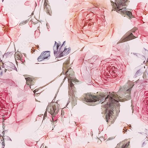 akwarela-wiosna-bezszwowe-granica-z-angielskich-roz