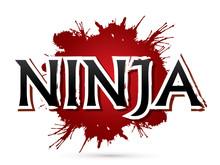 Ninja Text Font Design