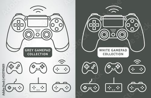 Fotomural Simple vector gamepad icon set