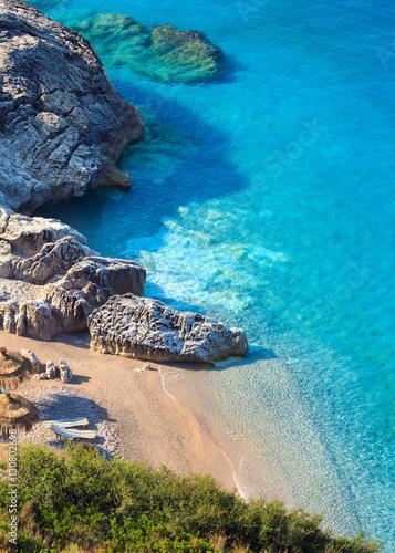 Summer Ionian sea coast, Albania. Canvas Print