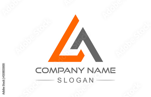 Canvas Print abstract triangle line logo