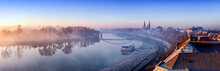 Szeged Panorama With Tisza Riv...