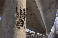 Damaged Bridge Support
