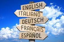 Wooden Signpost - Languages Co...