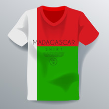 Madagascar Shirt : National Shirt Template : Vector Illustration