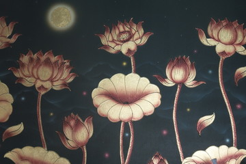 Obraz na PlexiThe art of lotus on the wall
