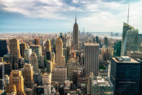 Fotografie, Obraz  NEW YORK CITY: Observers view Midtown from Top of the Rock Rockefeller center