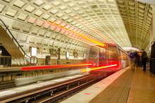 Train Pulling Into A Metro Sta...