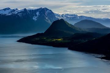 Plakat Fjords landscape