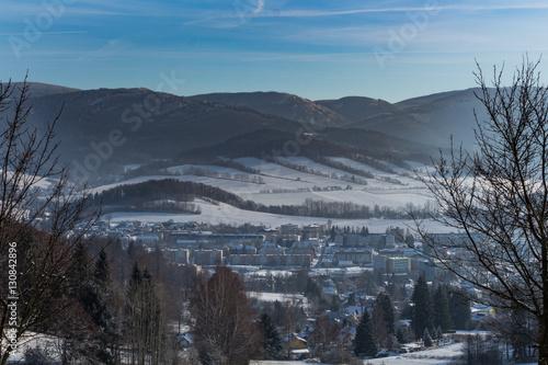 Foto op Aluminium Blauw Beautiful winter landscape in the mountains.