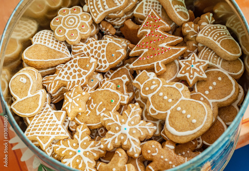 Traditional Czech Christmas Sweets Cookies Homemade Baked