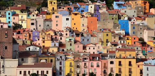 Bosa case colorate Wallpaper Mural
