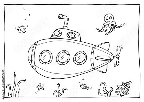 Ausmalbild U Boot Kaufen Sie Diese Illustration Und Finden Sie
