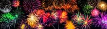 Großes Silvester Feuerwerk Als Panorama