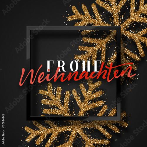 Merry Christmas German.Merry Christmas German Inscription Frohe Weihnachten
