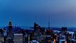 Timelapse of the cityscape looking from Rockefeller Center at dusk, NYC, USA