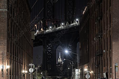 Photo  Manhattan Bridge as seen from Dumbo Brooklyn New York