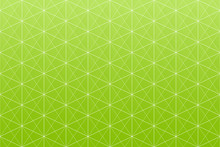 Geometric Pattern Seamless Greenery Concept Green Gradient Colors, Triangle, Square And Hexagon Shapes With White Line Abstract Background Vector.