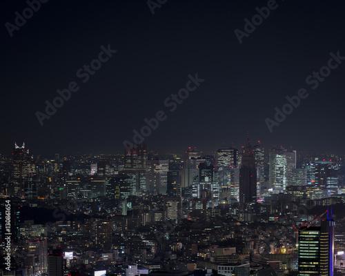 Poster Tokyo Shinjuku at night