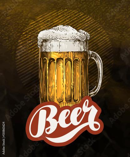 swieze-piwo-rzemieslnicze-w-szklanym-kuflu-plakat