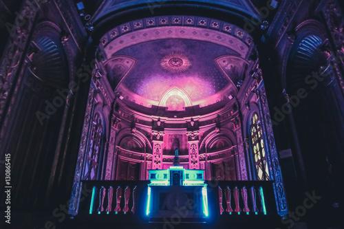 Creepy church and mystic led lights