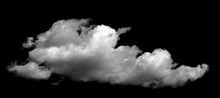 White Cloud On The Black Background
