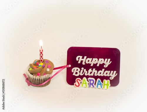 Personalized Happy Birthday Sarah