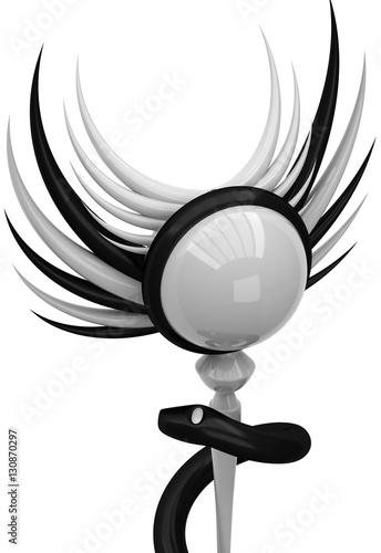 Fototapeta 3D Asclepius medical symbol obraz na płótnie