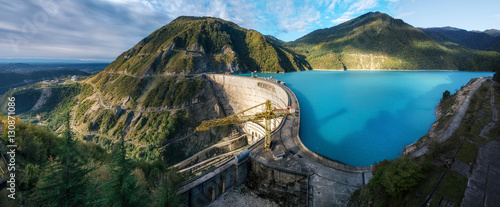 Fotografering The Enguri hydroelectric power station HES