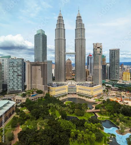 Photo Stands Kuala Lumpur Cityscape of the Kuala Lumpur, Malaysia. Skyline, skyscrapers and city parks