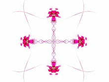 Abstract Fractal With A Pink P...