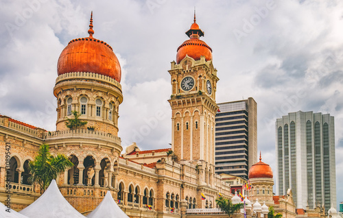 Photo Bangunan Sultan Abdul Samad located along Jalan Raja in front of the Dataran Merdeka or Independence Square