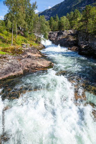 Papiers peints Riviere White water on river in Norway