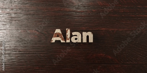 фотография  Alan - grungy wooden headline on Maple  - 3D rendered royalty free stock image